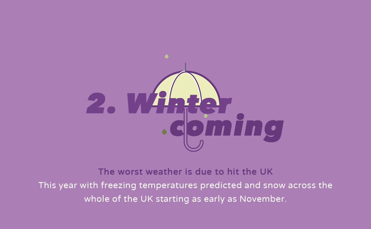 Umbrella - Rising Winter Prices